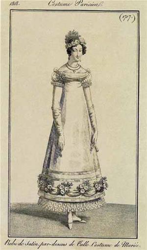 Модная картинка из журнала des Dames Modes Costume Parisien, 1818